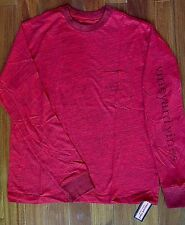 Vineyard Vines Long Sleeve T-shirt, Adult Small, Red, Whale & front pocket, NWT