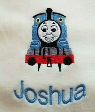 Personalised embroidered bath towel. Thomas the Tank Engine