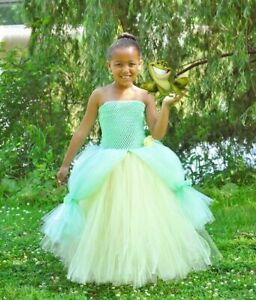 Princess The Frog Tiana Inspired Costume Tutu Mint Green Princess Cosplay Dress