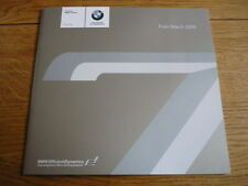 BMW 7 SERIES PRICE LIST BROCHURE MARCH 2009