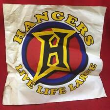 NOS VINTAGE HANGERS LIVE LIFE LARGE RED/YELLOW/BLUE WALL POSTER SIGNAGE DECOR