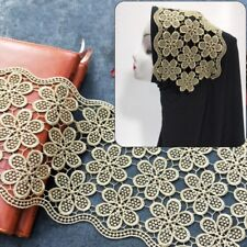 Ethnic Embroidered Gold Trimming Fringe Sewing Edge Costume Dress DIY Vintage