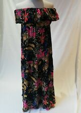 NWT Very Women Ladies Shoulder Off Maxi Summer Beach Floral Dress Clothes 12 UK