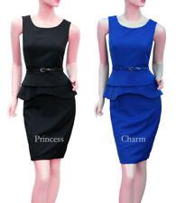 Knee Length Dresses for Women with Peplum