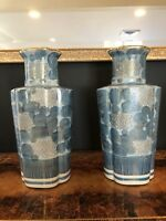 Exquisite Pair Of Vintage Japanese Porcelain Vases, Wow!