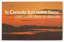 CANADA fait notre force Campagne du NON Référendum au Quebec Carte Postale 1