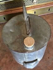 Vintage RailRoad Battery Water Filling Can W/ Fixed Bail, Cork Top, Half Gallon
