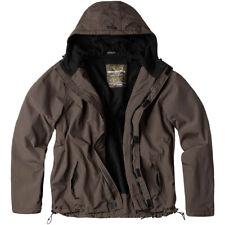 Surplus Windbreaker Jacket Zipper Hood Anorak Water Repellent Mens Hiking Brown