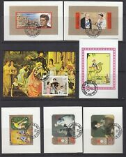 7 different Sharjah Souvenir and Miniature Sheets all fine used.         4