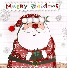 Box of 5 Santa Hand-Finished Christmas Cards Second Nature Embellished Card Boxe