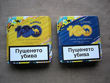 CAMEL CIGARETTE 2 METAL BOX 100years LIMITED EDITION Empty Bulgarian Edition#314