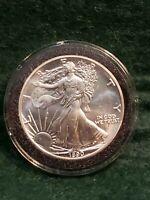 1990 American Eagle Silver Dollar 1 Oz Fine Silver Uncirculated Sealed Case NICE