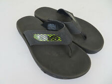 Teva #4132 Men's Size 7 Black Slip On Flip Flop Athletic Sandals Rubber Soles