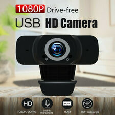 1080P HD USB Webcam Camera with MIC Clip-on for Computer PC Laptop Video Call