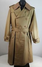 VINTAGE 70's Trench Coat Men's Size 42R Double Breasted Removable Lining NOS