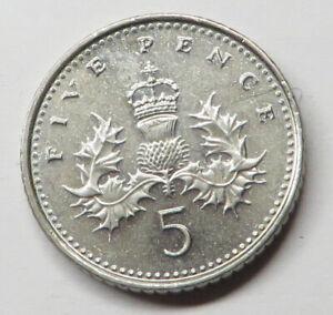 Great Britain 5 Pence 2000 Copper-Nickel KM#988 UNC