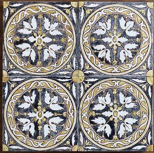 Lovely hand painted Arts & Crafts Shrigley & Hunt tile panel