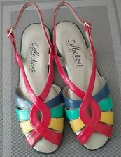 """Tender Tootsies_Womans """"Desire"""" sandals Multi Color sz 9M Ships free in Ontario"""