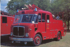 AEC Merryweather Fire Engine 1957 MODERN POSTCARD by Commercial Centre