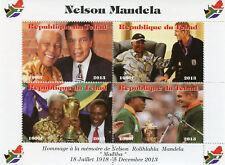 Chad 2013 MNH Nelson Mandela Memorial Muhammad Ali David Beckham 4v M/S Stamps