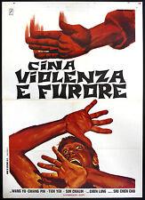 CINEMA-manifesto CINA VIOLENZA E FURORE wang, pin, tien, CHIEN