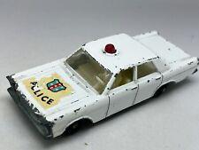 Matchbox Lesney No 55 / 59 White Ford Galaxy Police Car