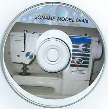 Janome Model 694FA Sewing Machine Vogue Instructions Manual on cd in pdf format