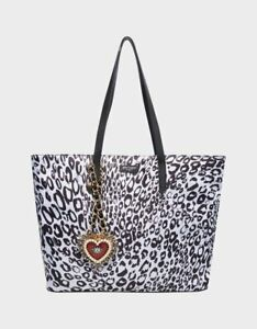 Betsey Johnson Betsified Tote Necklace Charm Black/White Limited Edition SEALED