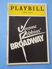 August 1989 - Imperial Theatre Playbill - Broadway - Sammy Cahn