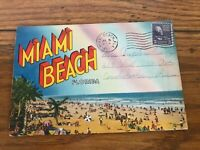 Miami Beach Florida Fold-Out Postcard Vintage Postcard