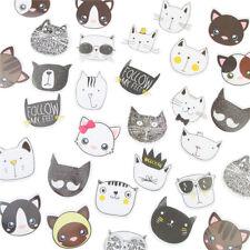 45x DIY Cute Cat Head Sticker Diary Label Bag Seal Sticker Memo Pads Decoration