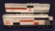 Lionel postwar O gauge 2242 New Haven F-3 AB set