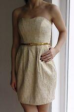 Bustierkleid, H&M, Gr. 34, goldfarben