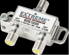 NEW Extreme 2 way digital cable coax splitter 5 to 1002Mhz BDS102H Out -3.5