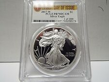 1 OF 1000 2017 W SILVER EAGLE FIRST DAY OF ISSUE PCGS PR70DCAM
