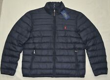 New POLO RALPH LAUREN packable puffer down ski jacket Mens 2XL XXL coat Black