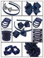 40x NAVY BLUE GIRLS SCHOOL SET ALICE HAIR BAND HEADBAND BOBBLE PONIO HEADBAND UK