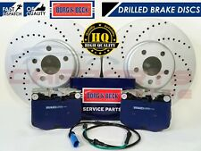 FOR BMW X3 G01 F97 2017- FRONT PREMIUM DRILLED BRAKE DISCS BORG & BECK PADS 348m