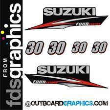 Suzuki 30hp four stroke outboard engine graphics/sticker kit
