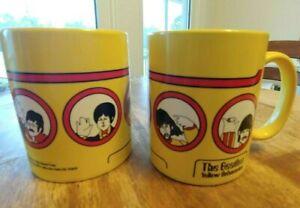 PAIR NEW the Beatles Yellow Submarine Coffee Mugs taza Set of 2