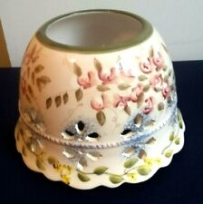 Home Interiors Spring Flowers Floral Eyelet Lace Candle Yankee & Jar Topper