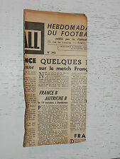 FRANCE FOOTBALL OFFICIEL HEBDOMADAIRE FFF N°343 14/10 1952