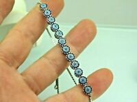 Turkish Handmade Jewelry 925 Sterling Silver Turquoise Stone Women Bracelet