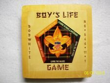 VINTAGE BOY'S LIFE BOARD GAME W/PINE BOX & INSTRUCTIONS