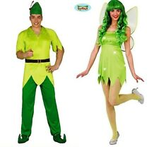 CARNEVALE HALLOWEEN VESTITO PETER PAN TRILLY TINKER BELL ADULTO COSTUME COSPLAY