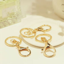 Chain Double Ring Keyring Car Keychains New ! Fashion Alloy Metal Key