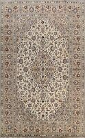Vintage Floral IVORY/ BEIGE Ardakan Traditional Area Rug Hand-knotted Wool 8x11