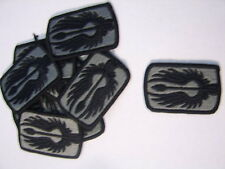 18th AVIATION BRIGADE PATCHLOT OF 10 PATCHES - ACU COLOR BLACK ON GREY