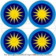 "MALAYSIA Royal Malaysian AirForce TUDM Aircraft Roundel 50mm (2"") Stickers x4"