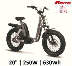 "E-Bike Fahrrad Elektro 20 "" Fett Dachträger FANTIC Issimo Urban Silber 250W,"